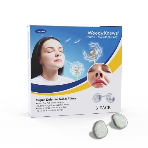 WoodyKnows Série de Super Défense Filtres Nasaux de Protection Anti-Allergie Causée par Pollen/Poussière/Squames/Moisissures/Germs/PM2.5